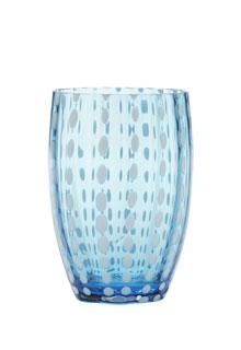 Zafferano - Perle Set 6 bicchieri tumbler acqua marina