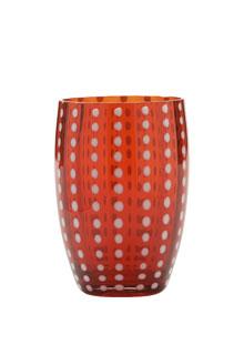 Zafferano - Perle Set 6 bicchieri tumbler rosso