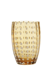 Zafferano - Perle Set 6 bicchieri tumbler ambra