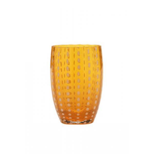 ZAFFERANO Perle Juego de 6 Vasos Naranja