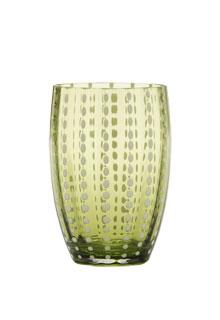 Zafferano - Perle Set 6 bicchieri tumbler verde mela