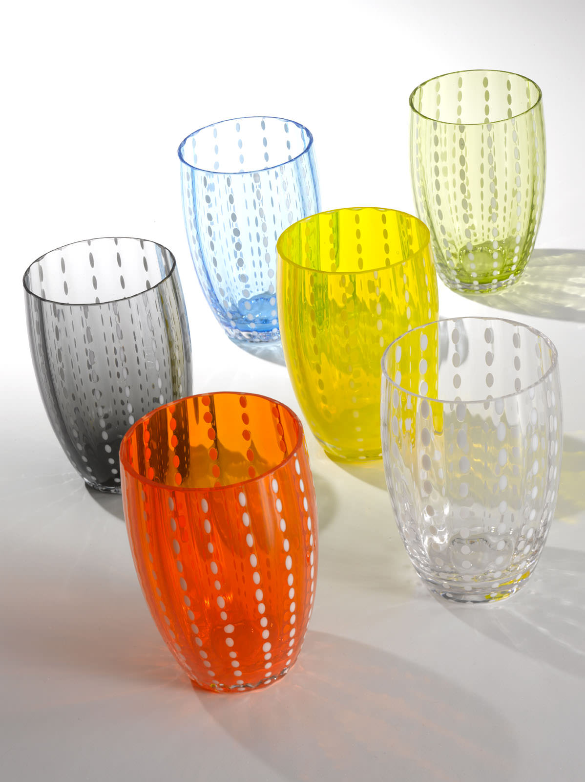 ZAFFERANO Perle Juego de 6 Vasos Aguamarina