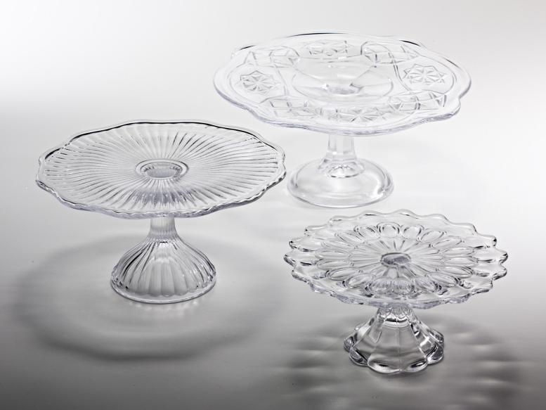 Zafferano - Alzata in vetro vintage - piccola