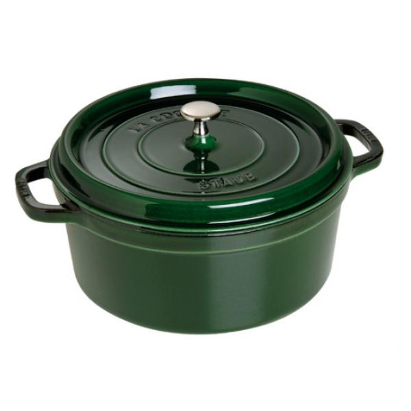 "Staub - Pentola ghisa tonda - verde basilico cm.26 - ""La cocotte"""