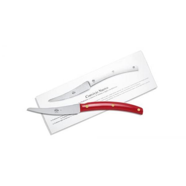 Berti Set 6 coltelli Convivio nuovo cm 23 rosso