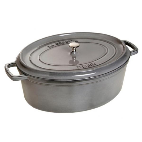 "Staub - Pentola ghisa ovale - grigio cm.31 - ""La cocotte"""