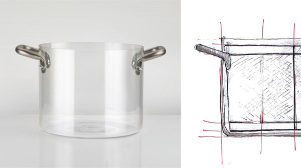 knIndustrie-KNPRO Pentola in vetro 24cm