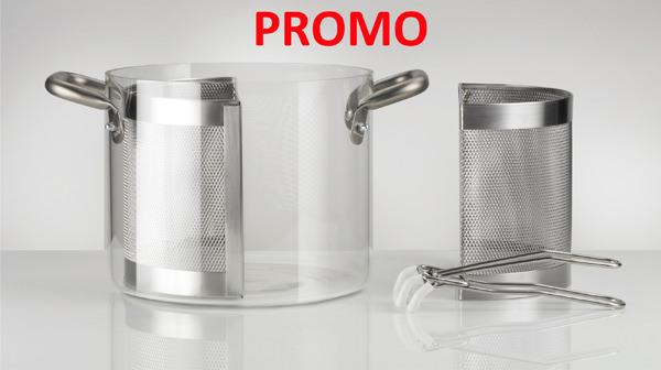 knIndustrie-KNPRO Pentola in vetro 24cm completa - PROMO