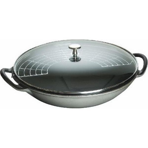 Staub -Wok in ghisa 37cm grigio