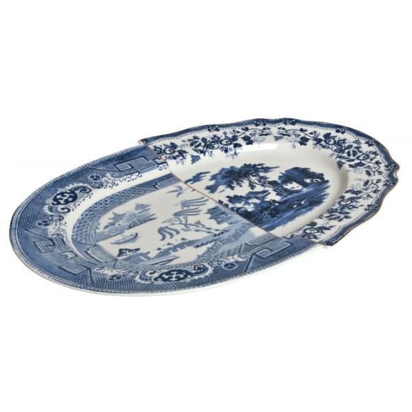 Seletti- HYBRID - Vassoio in porcellana DIOMIRA