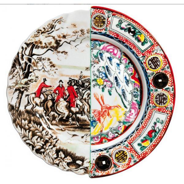 Seletti- HYBRID - Piatto piano EUSAFIA in porcellana cm27,5