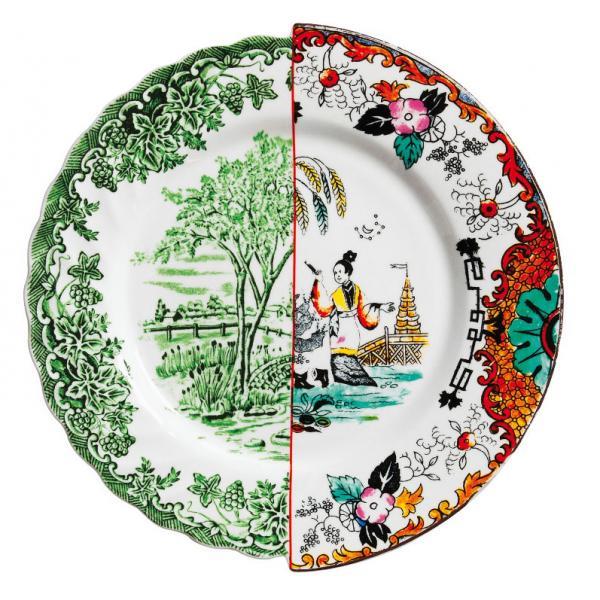 Seletti- HYBRID - Piatto piano IPAZIA in porcellana cm27,5