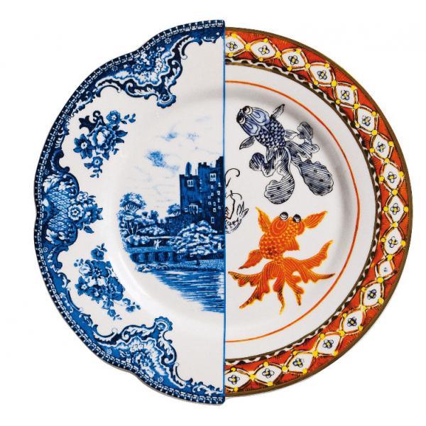 Seletti- HYBRID - Piatto piano ISAURA in porcellana cm27,5