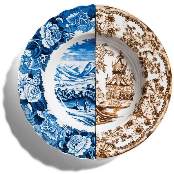 Seletti- HYBRID - Piatto fondo SOFRONIA in porcellana cm25,4