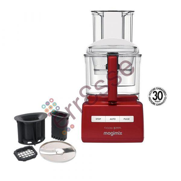 Magimix 5200xl Premium Rosso con Accessori