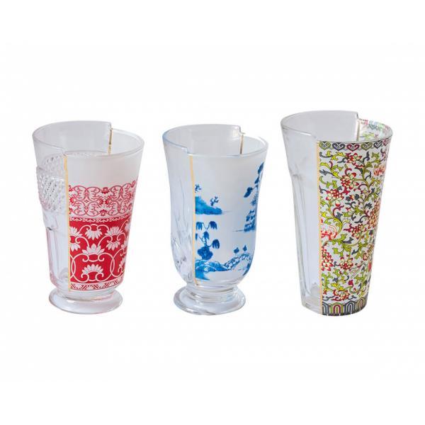 Seletti- HYBRID - Set 3 bicchieri CLARICE