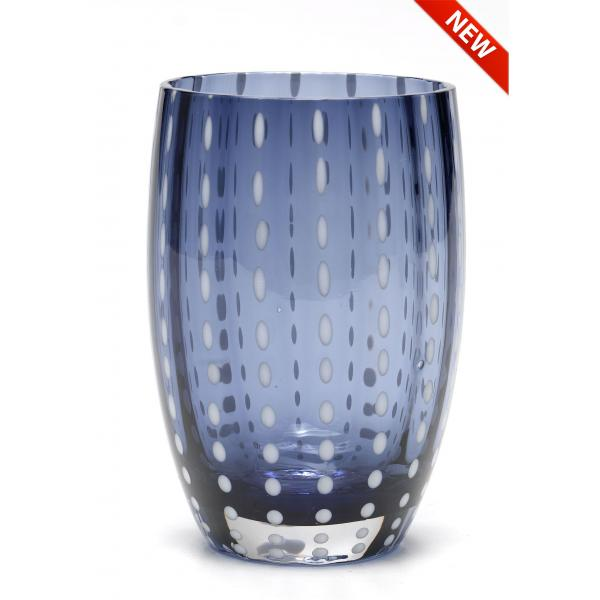 Zafferano - Perle Set 6 bicchieri tumbler blu grigio