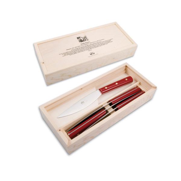 Berti Set 4 coltelli Valdichiana - rosso