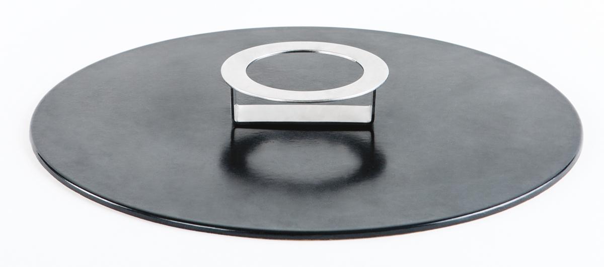 KnIndustrie - Stone Work Coperchio/Alzata Gres nero 20cm