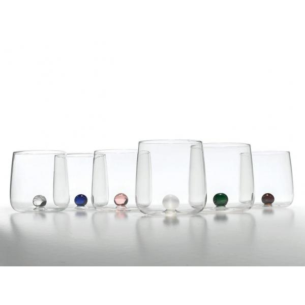 Zafferano - Bilia 6 bicchieri verde