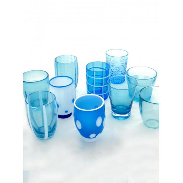 Zafferano - Melting Pot 6 bicchieri assortiti acquamarina