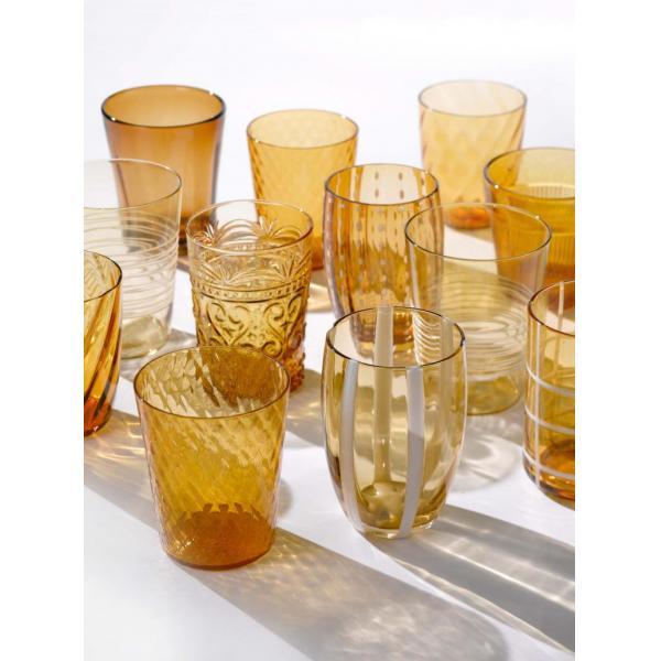 Zafferano - Melting Pot 6 bicchieri assortiti ambra