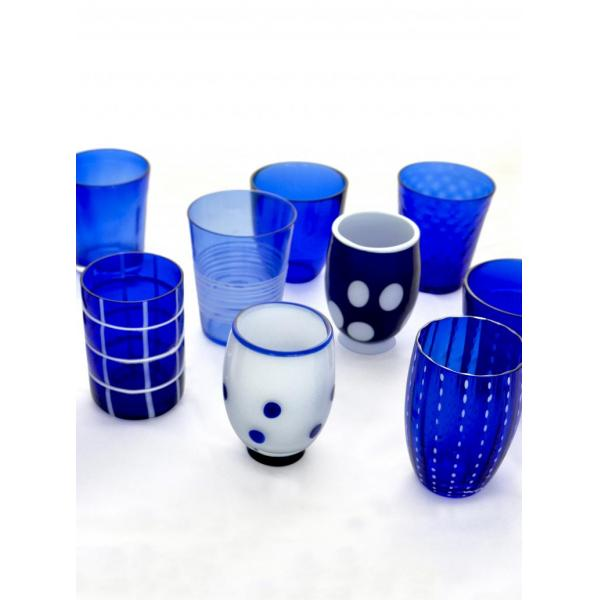 Zafferano - Melting Pot 6 bicchieri assortiti blu
