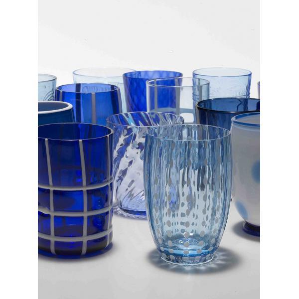 Zafferano - Melting Pot 6 bicchieri assortiti blu/acquamarina