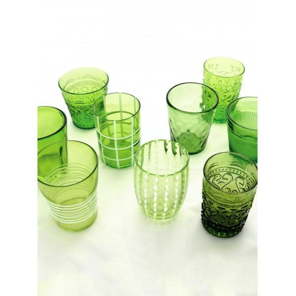 Zafferano - Melting Pot 6 bicchieri assortiti verde mela