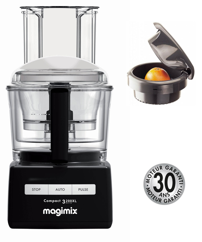 magimix kuchenmaschine compact 3200xl schwarz zitruspresse