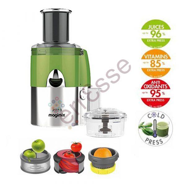Magimix Juice Expert 3 Multifunzione Verde Cromo