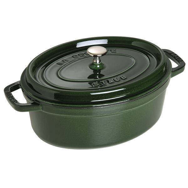 "Staub - Pentola ghisa ovale - verde cm.29 - ""La cocotte"""