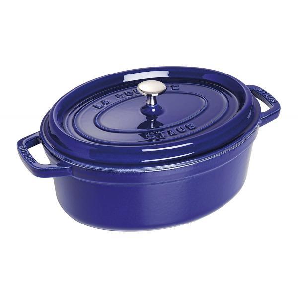 Staub Cast Iron Oval Cocotte 29 cm Blue