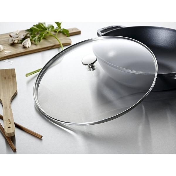 Staub Wok mit Glassdeckel 30 cm Graphit-Grau 2