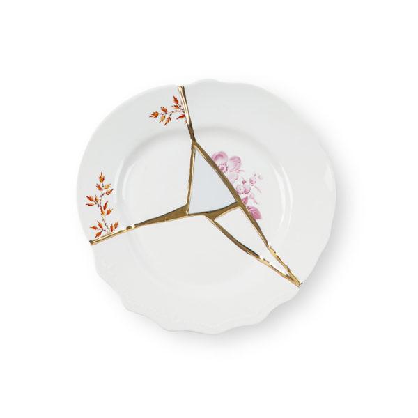 Seletti - KINTSUGI - Piatto Frutta n°1 in porcellana cm 21