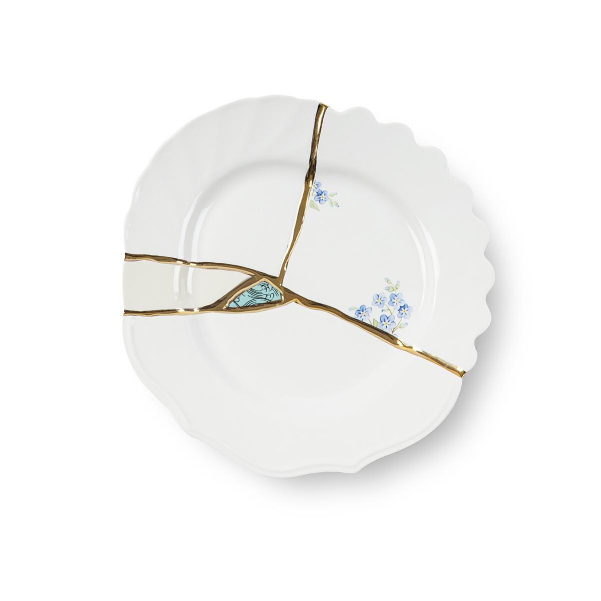 Seletti - KINTSUGI - Piatto Frutta n°3 in porcellana cm 21