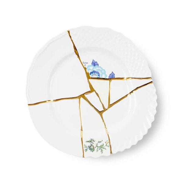 Seletti - KINTSUGI - Piatto Piano n°3 in porcellana cm 27,5