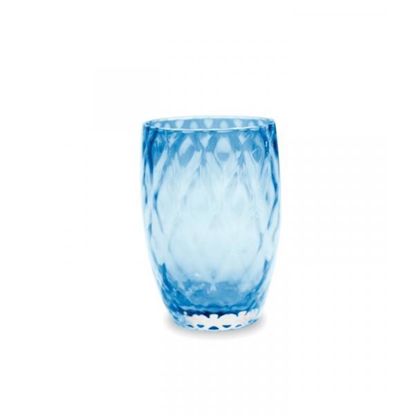 Zafferano - Losanghe Set 6 bicchieri tumbler Acquamarina
