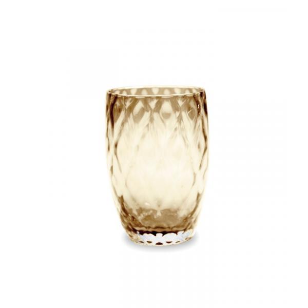 Zafferano - Losanghe Set 6 bicchieri tumbler Ambra