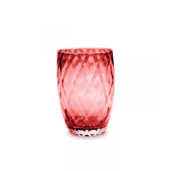 Zafferano - Losanghe Set 6 bicchieri tumbler Rosso