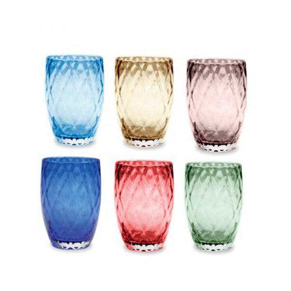 ZAFFERANO Losanghe Set 6 Bicchieri Tumbler Mix