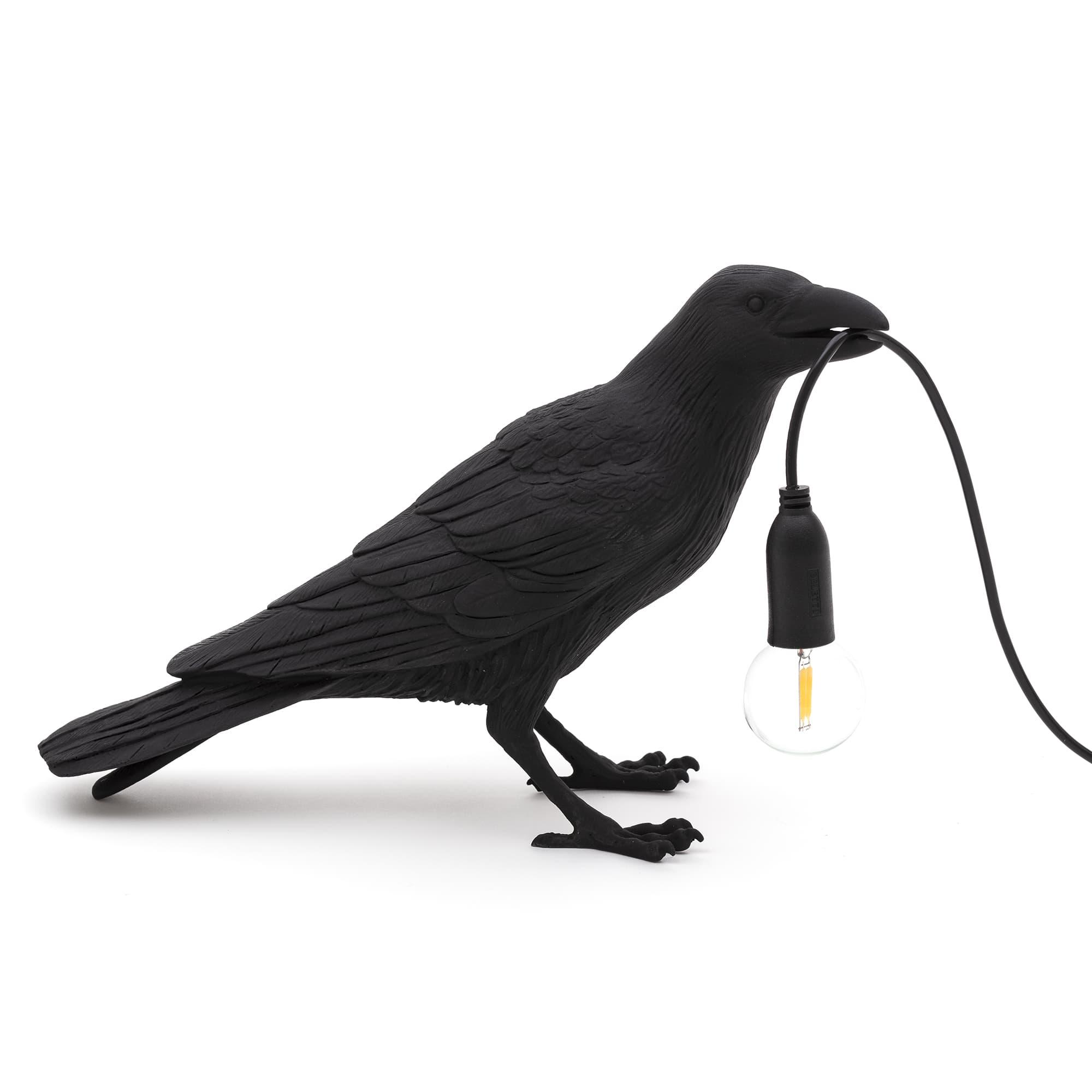 Seletti - Bird Lamp Black Waiting
