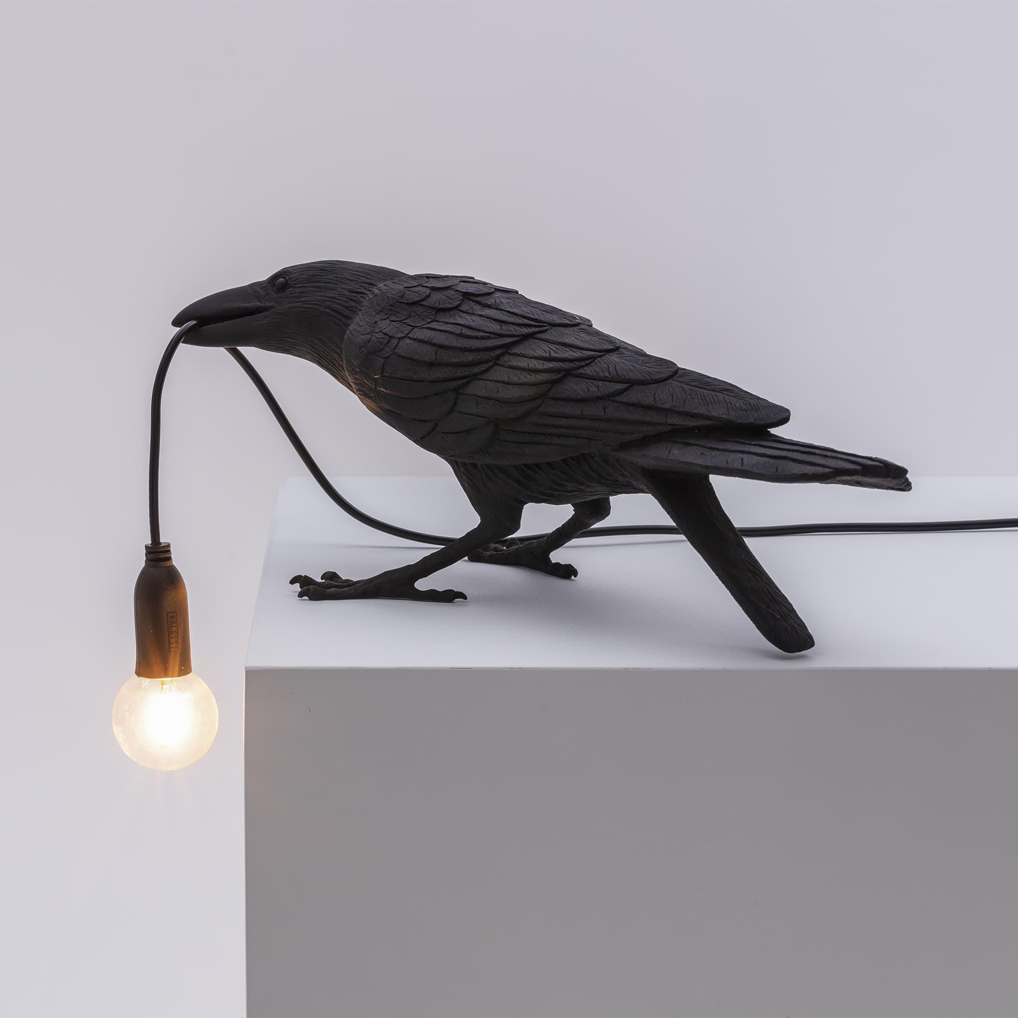 Seletti - Bird Lamp Black Playing