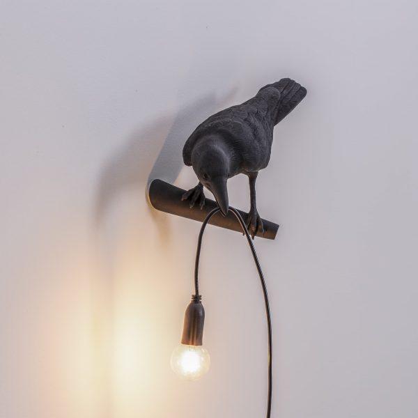 Seletti - Bird Lamp Black Looking