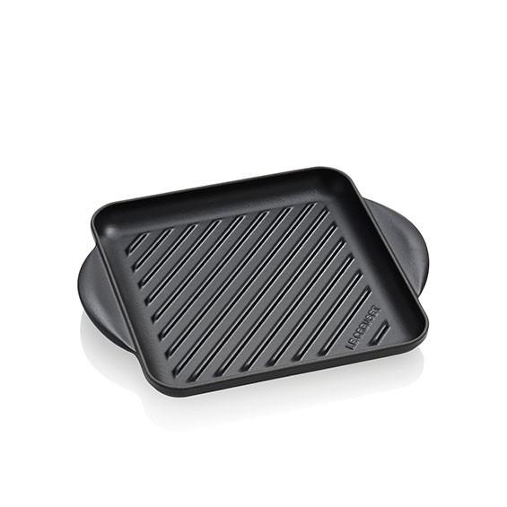 LE CREUSET Quadratischer Grill aus Gusseisen 24 x 24 cm Schwarz Mat
