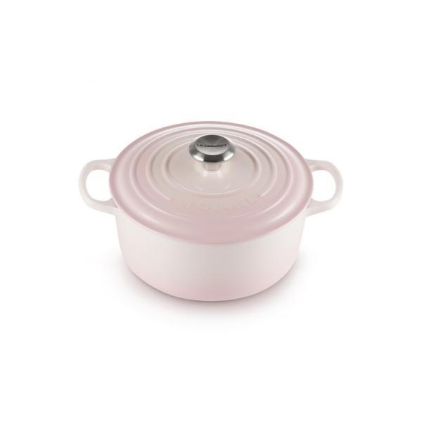 Le Creuset Cast Iron Casserole 20 cm Shell Pink