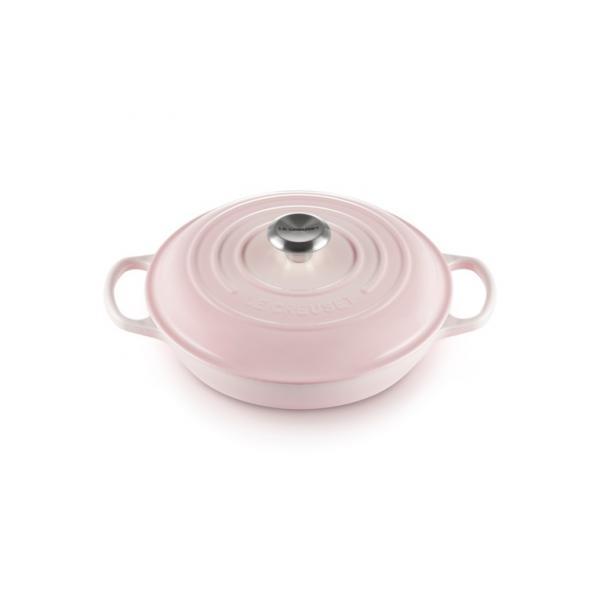 Le Creuset Cast Iron Shallow Casserole 26 cm Shell Pink 2