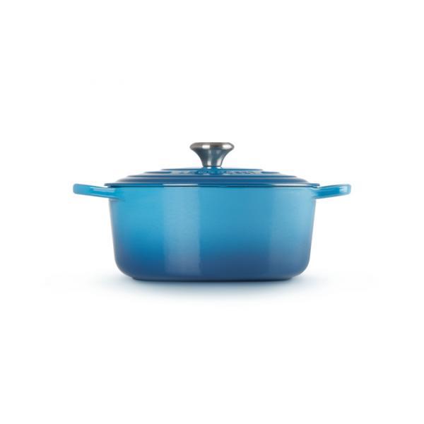 LE CREUSET Cast Iron Casserole 24 cm Blue Marseille