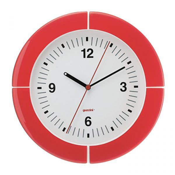 Orologio_da_Parete_Guzzini_I_Clock_Rosso_Trasparente