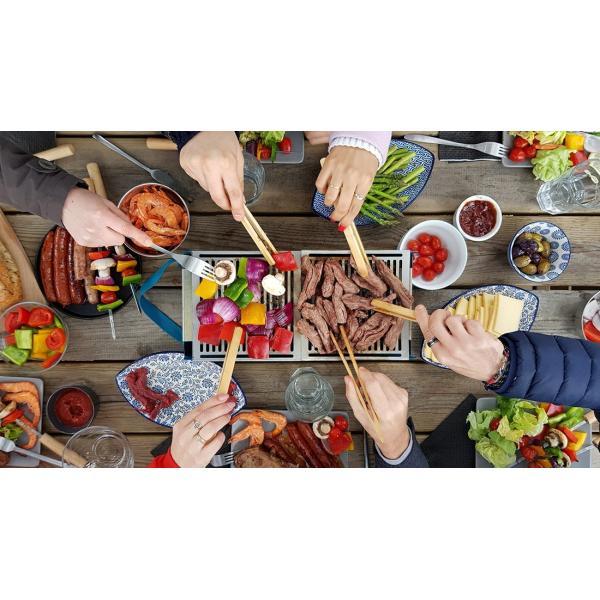 COOKUT Barbecue Party da Tavolo con Carne e Verdure